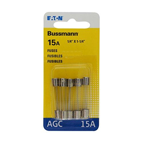 Bussmann BP/AGC-15 15 Amp Fast Acting Glass Tube Fuse Agc 15 Amp