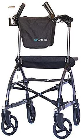 UPWalker Mobility Stand Up Walking Aid - Standard Size (Upright Posture Rolling Walker With Seat)
