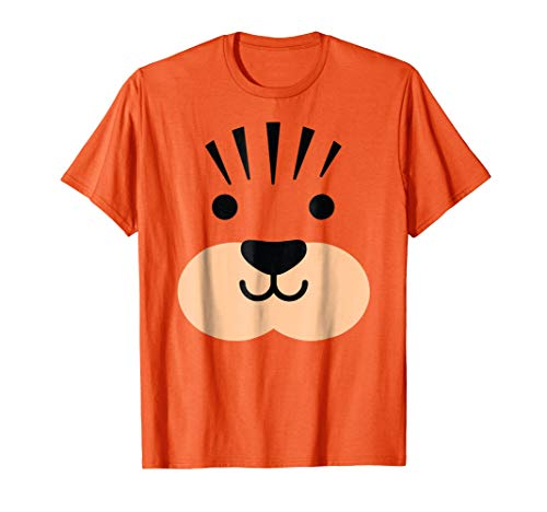 Halloween Tiger Lion Leopard Face Costume Shirt Boys, Girls -