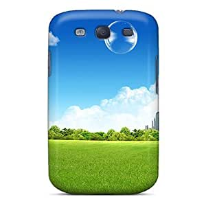 For SamSung Galaxy S5 Case Cover Hard (green City)