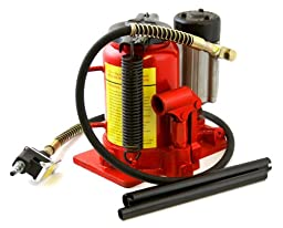 XtremepowerUS 20 Ton Low Profile Air Manual Hydraulic Bottle Jack Lifts Hoist
