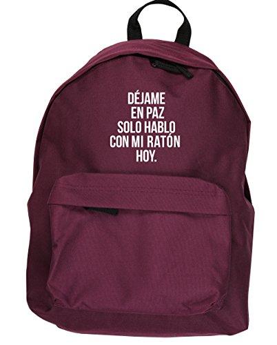 HippoWarehouse Déjame en Paz Solo Hablo con mi Raton hoy kit mochila Dimensiones: 31 x 42 x 21 cm Capacidad: 18 litros Granate