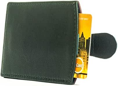 Slim Genuine Leather Wallet with Pull Tab - Sleeve - Card Holder