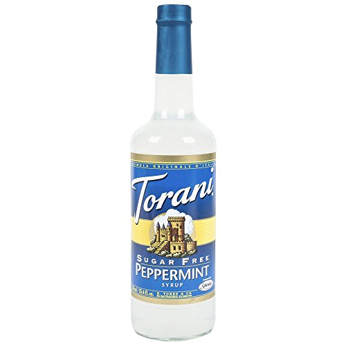Sugar Free Mint Syrup - Torani Syrup, Sugar Free Peppermint, 25.4-Ounce PET Bottles (Pack of 3)