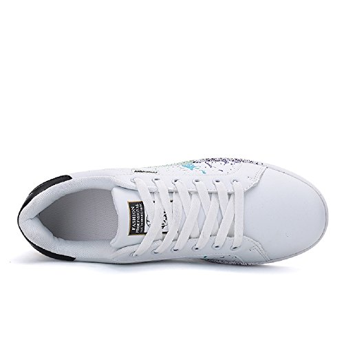 Negro Zapatillas Deporte Moda Casuales Zapatos Caminar de Zapatos de Unisex qCxBqfAR