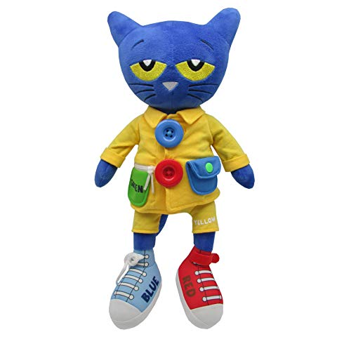 Pete the Cat - Learn To Dress Stuffed Plush Doll - Educational Toy for Toddlers -