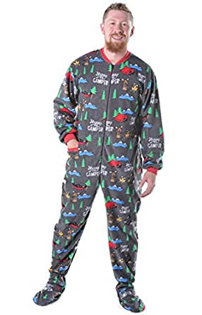 Lazy One LazyOne Family Matching Pajamas (XX-Small, Happy Camper Adult Footie)