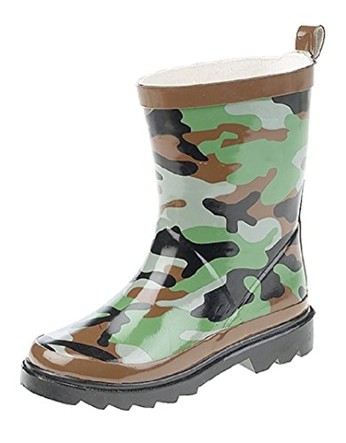 Boys Green Camouflage Wellies (10 Infant)