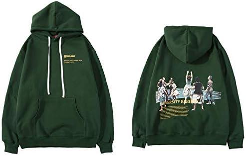 YDMZMS Herren Hoodie Print Pullover Kapuzenpullis Sweatshirts Freizeitkleidung Hoodie Fashion Tops XL Dunkelgrün