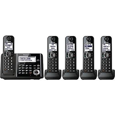 Panasonic KXTGF345B Dect 5-Handset Landline Telephone