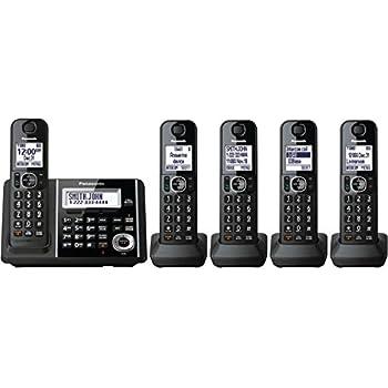 Panasonic Expandable KX-TGF345B Cordless Phone with Answering Machine - 5 Handsets