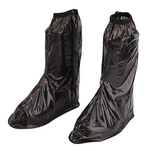 Footprintse Los Zapatos Impresos Transparentes Planos Antideslizantes Impermeables del Recorrido al Aire Libre Cubren Color: Rosado/tamaño: S Marrón C