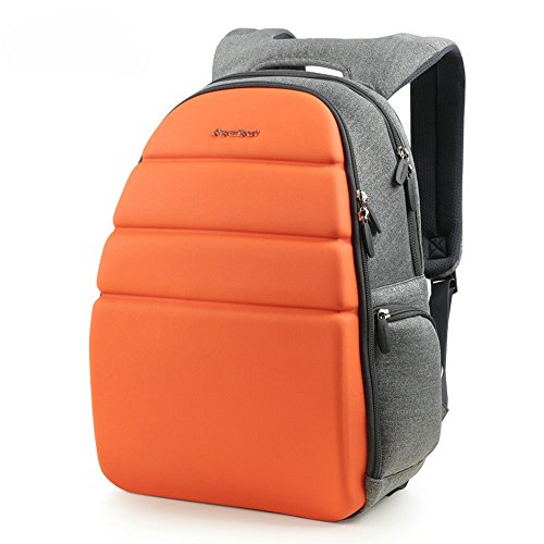 (AspenSport Deluxe Fashion Laptop Backpack fit 13.3 inch Notebook with Moulded Front Panel for Men & Women Travel Business College Students Computer Bag Orange/Grey)