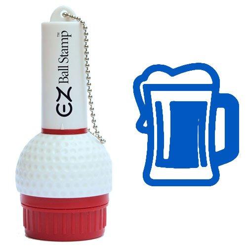 ProMarking EZBallStamp Golf Ball Stamp - Blue Beer Mug