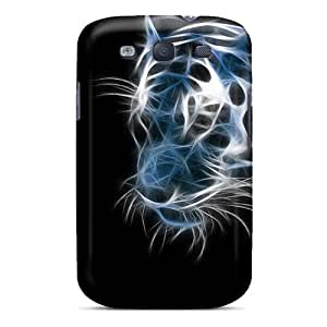 Premium Protection Tiger Of Art Case Cover For Galaxy S3- Retail Packaging