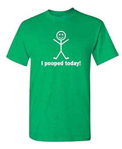 I Pooped Today Graphic Cool Novelty Funny Youth Kids T Shirt YM Irish (Love Irish Green Boys)