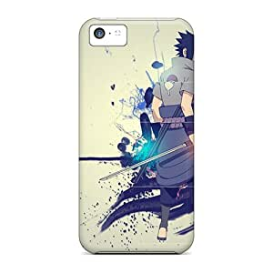 Scratch Resistant Hard Phone Case For Iphone 5c With Allow Personal Design Beautiful Naruto Sasuke Image JonathanMaedel