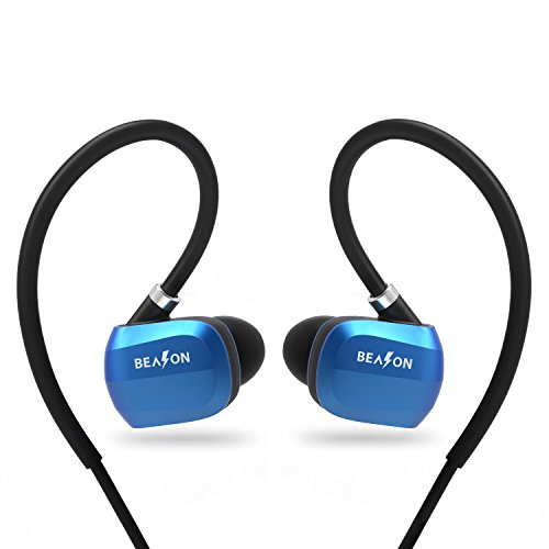 BEASON Running Wireless Waterproof IPX4 Bluetooth Earbud, Sports Workout Wireless Bluetooth 4.1 Headphone with Mic and 6 Hours Playtime, Noise Cancellation Headset with Deep Bass-Blue Color