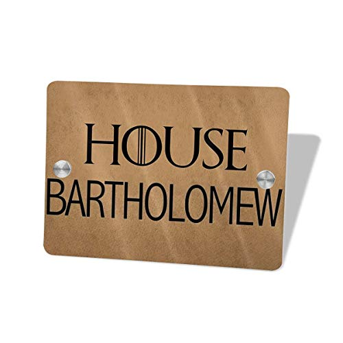 Sign for Front Door Signs House Address Wall Plaque Welcome Hello Rectangle Home for Restroom Outhouse Decor ()