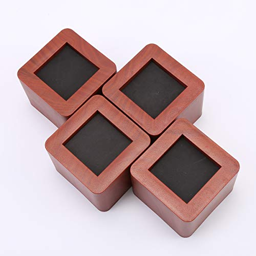 uyoyous Bed Risers Heavy Duty Wooden Color Furniture Risers Sofa/Table/Bed Risers - 4PCS