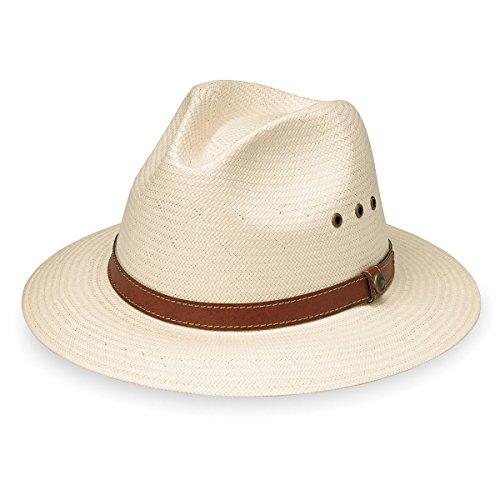 Avery Hat - Wallaroo Hat Company Men's Avery Fedora - UPF 50+ Lightweight, Modern Sun Hat, Designed in Australia, Natural, Medium/Large