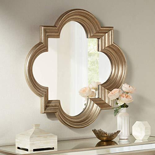 Noble Park Farley Silver 34 1 2 x 34 1 2 Quatrefoil Mirror