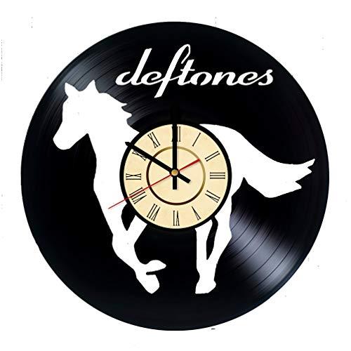 Deftones Band Vinyl Clock Gifts for Rock Music Fans Chino Moreno Wall Decor White Pony Art Alt Metal Handmade Living Room -