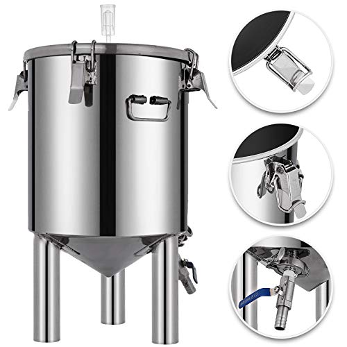 VEVOR 7 Gallon Stainless Steel Brew Fermenter Home Brewing Brew Bucket Fermenter With conical base Brewing Equipment by Vevor (Image #9)