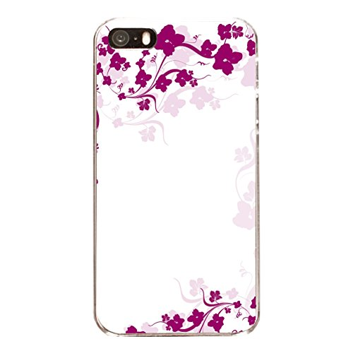 "Disagu Design Case Coque pour Apple iPhone 5 Housse etui coque pochette ""Pinke Blumenranke"""