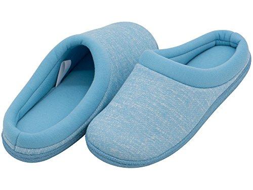 HomeTop - Zapatillas de estar por casa de forro polar para mujer Azul