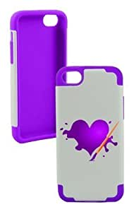 Andre-case Amazing Drawing Heart Plastic & Silicone Purple case cover 6CHw25TZgau for Iphone 6plus 5.5