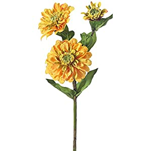 "Zinnia Spray X3 24""-Golden 84"
