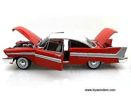 Awss102 Auto World Silver Screen Machines Christine - Plymouth Fury Hard Top Hard Top (1958, 1:18, Red) Awss102 Diecast Car Model Auto Vehicle Automobile Metal Iron Toy (Christine Model Car compare prices)