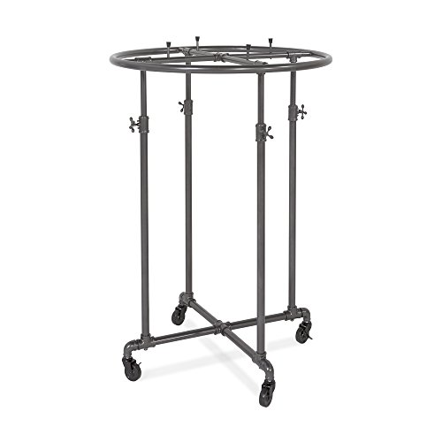 Econoco PSRD36 Adjustable Height Pipeline Round Garment Rack, 36""