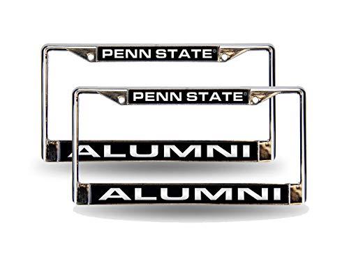 Rico Penn State Nittany Lions Alumni NCAA Chrome Metal (Set of 2) Laser Cut License Plate Frames