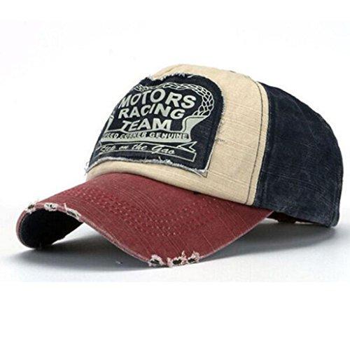 4ed5a1962b1 Unisex Adjustable Plain Cap Vintage Army Military Cadet Style Cotton Hat (C