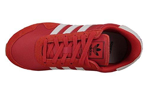 adidas Haven J, Zapatillas de Deporte Unisex Niños Rojo (Rojo / Ftwbla / Ftwbla)