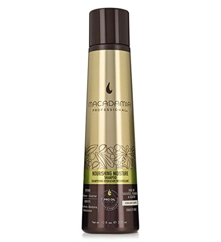 Macadamia Professional Nourishing Moisture Shampoo - 10oz. - Medium to Coarse Hair Textures - Moisturizes & Strengthens - With Argan Oil - Sulfate, Gluten & Paraben Free, Safe for Color-Treated Hair