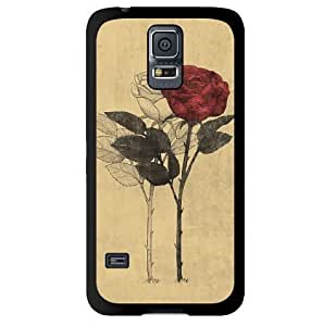 Retro Rose Hard Back Case Cover for Samsung Galaxy S5 i9600