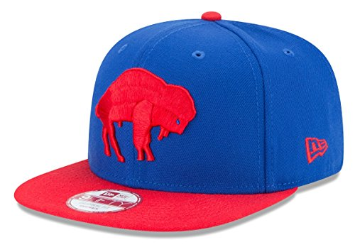 New Era NFL Historic Baycik Snap 9FIFTY Original Fit Cap, Blue/Red, One Size ()