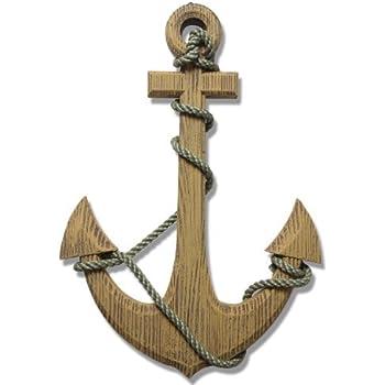 Wonderful Amazon.com: Adeco Wooden Boat Anchor with Crossbar, Steering Wheel  LH51