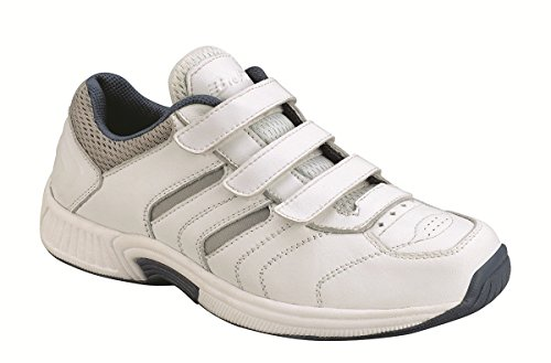 Orthofeet 950 Women's Comfort Diabetic Extra Depth Sneaker Shoe White 8.5 X-Wide (2E) Velcro by Orthofeet