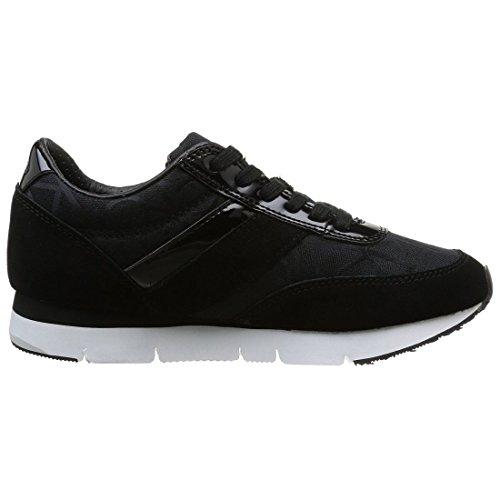 Jacquard Jeans Tea Klein Sneakers Femme Logo black Noir Calvin Ck Basses black patent nqEX4w5