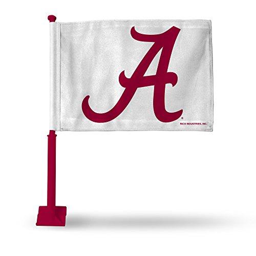 NCAA Alabama Crimson Tide Car Flag, Crimson Pole by Rico