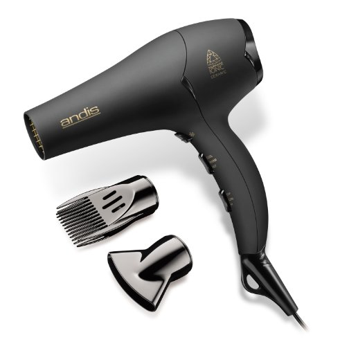 Andis 1875-Watt Tourmaline Ceramic Ionic Hair Dryer, Black (80480) by Andis