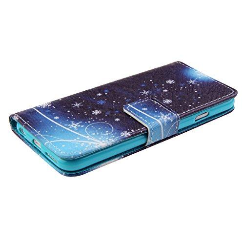 Ukayfe Custodia iPhone 6/6S in Pelle, Portafoglio / wallet / libro Flip elegante e di alta qualità con porta carte di credito e banconote Stampa creativa Chiusura Magnetica Protettiva Cover Case per i