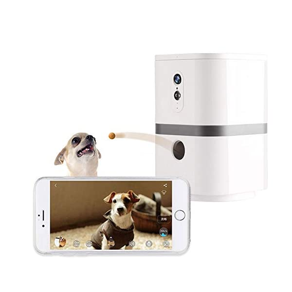 YUNDING Wi-fi Pet Camera 1080p Hd Video 200° Rotatable Treat Dispenser 2-Way Audio Night Vision Pet Monitor Support…
