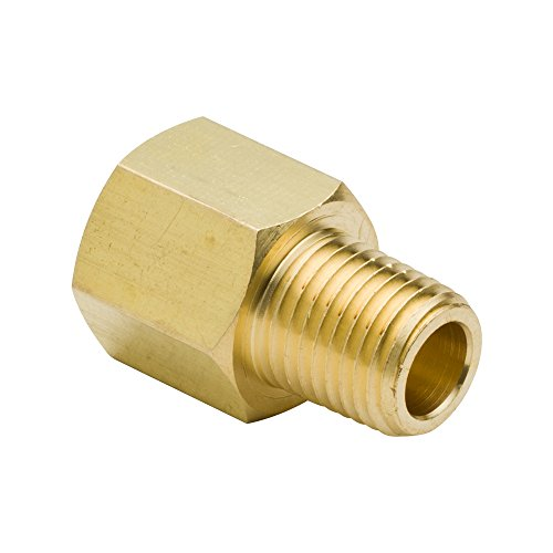 Female Pipe Reducer - Legines Brass Reducing Pipe Fitting, Reducer Adapter, 1/4