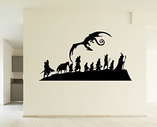 Lord of the Rings Hobbit Fellowship With Smaug Inspired Wall Picture Art Decal Sticker for your Home Décor Impovement