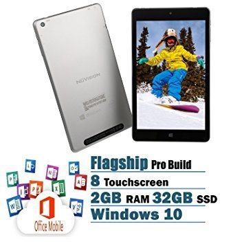 NuVision 8-Inch FHD Touchscreen Tablet Flagship Edition Intel Atom x5-Z8300 Quad-Core Processor 2GB 32GB SSD Windows 10 with office Mobile